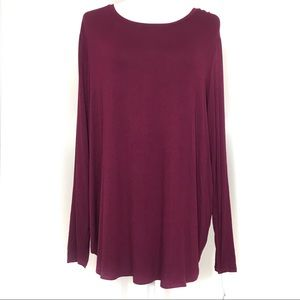 Apt 9 wine long sleeve blouse NWT